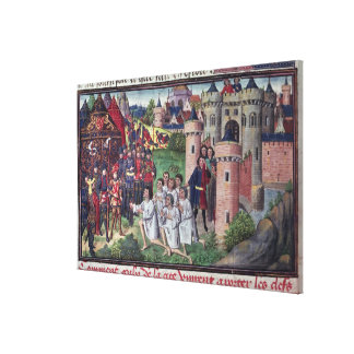 Manuscrito de Jean Vauquelin Impresión De Lienzo