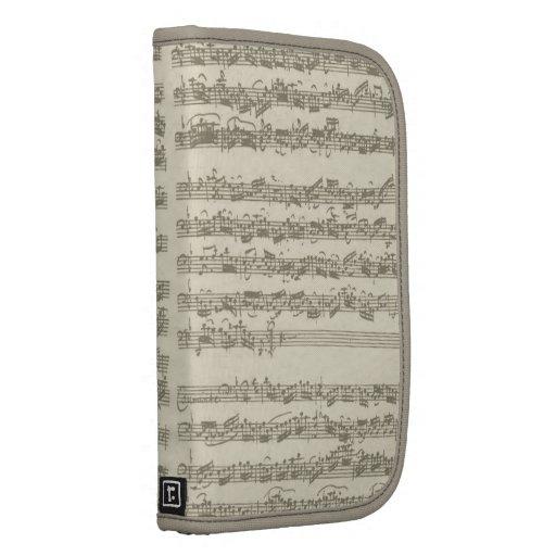 Manuscrito de la música de Bach, 2da habitación pa Organizador