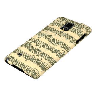 Manuscrito de la música de Bach Chaconne Funda Galaxy Note 4