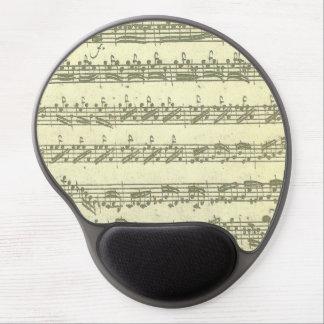 Manuscrito de la música de Bach Partita para el Alfombrilla De Raton Con Gel