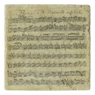 Manuscrito de la música de Bach Partita para el