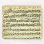 Manuscrito de la música de Bach Partita para el vi Alfombrilla De Ratones