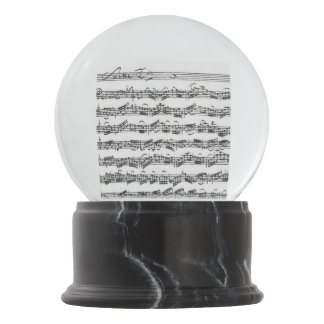 Manuscrito de la música de la habitación del bola de nieve