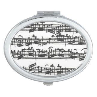 Manuscrito de la música de la habitación del espejo para el bolso