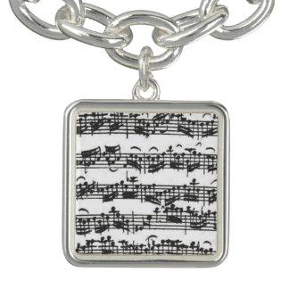 Manuscrito de la música de la habitación del pulseras