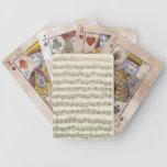 Manuscrito de la música de la habitación del violo barajas