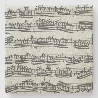 Manuscrito de la música del violín de Paganini Posavasos De Piedra