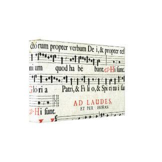 Manuscrito de la música impresiones en lienzo estiradas