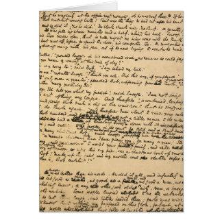 Manuscrito de la original del villancico del navid tarjeton