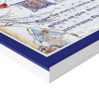 Manuscrito del invierno impresión en lienzo estirada