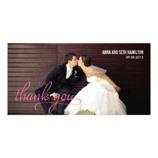 MANUSCRITO gracias las tarjetas - rosa Tarjetas Fotograficas