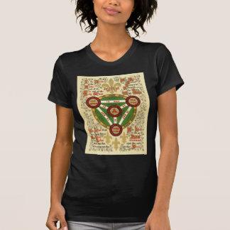 Manuscrito iluminado de la trinidad santa camisetas