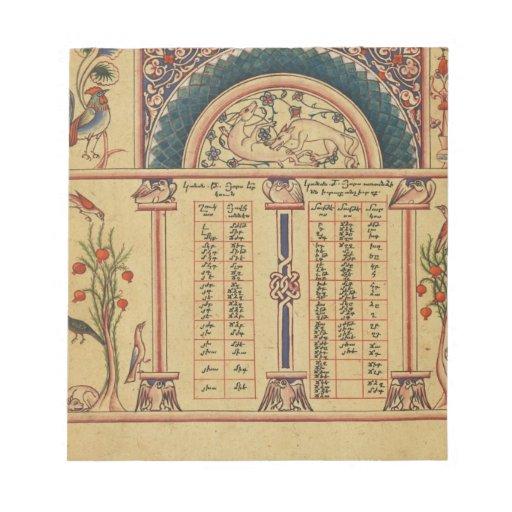 Manuscrito iluminado del siglo XVII Libretas Para Notas