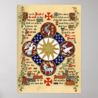 Manuscrito iluminado la epifanía impresiones