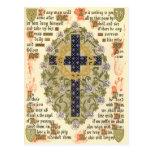 Manuscrito iluminado para la septuagésima y postal