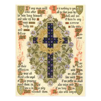 Manuscrito iluminado para la septuagésima y tarjeta postal