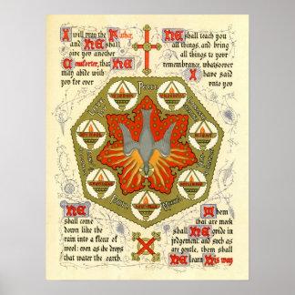 Manuscrito iluminado para Whitsuntide Poster