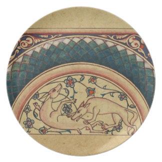 Manuscrito medieval extraño y hermoso