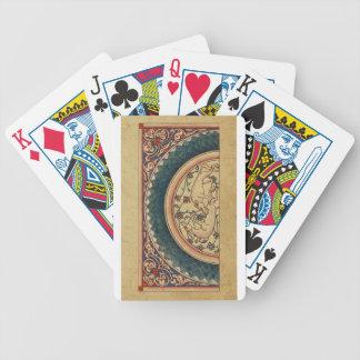 Manuscrito medieval extraño y hermoso baraja de cartas