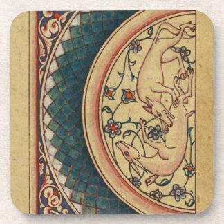 Manuscrito medieval extraño y hermoso posavasos