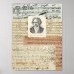 Manuscritos de Beethoven Posters