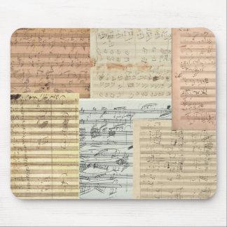 Manuscritos de la música de Beethoven Alfombrilla De Ratones