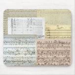 Manuscritos de la música de Brahms Alfombrilla De Raton