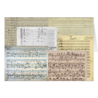 Manuscritos de la música de Brahms Tarjeta De Felicitación