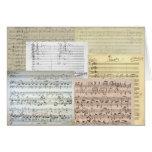 Manuscritos de la música de Brahms Tarjetón