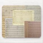 Manuscritos de la música de Mozart Alfombrillas De Ratones