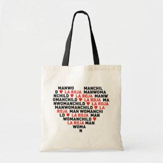 MANWOMANCHILD HEARTS LA ROJA TOTE BAG