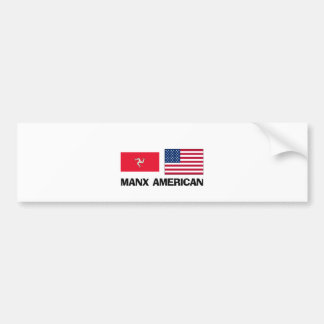 Manx American Car Bumper Sticker
