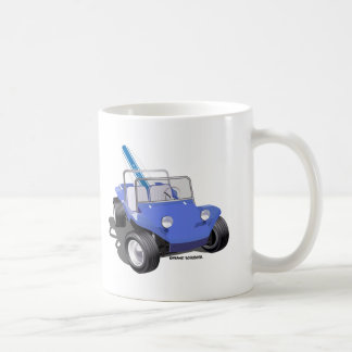 Manx Blue with Surfboard Coffee Mug