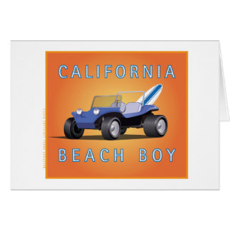 Manx Cal Beach Boy Card
