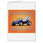 Manx Cal Beach Boy Card