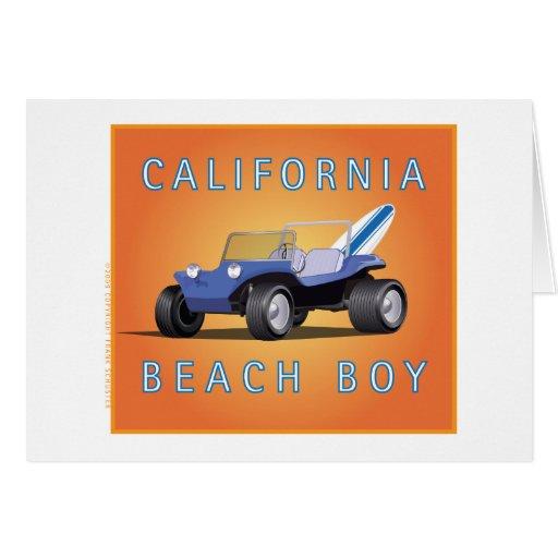 Manx Cal Beach Boy Greeting Card