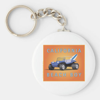 Manx California Beach Boy Keychain