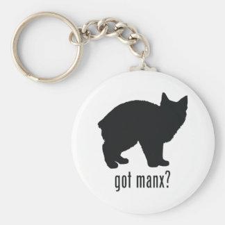 Manx Cat Basic Round Button Keychain