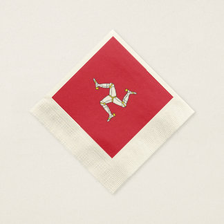 Manx Flag Cocktail Napkin (Coined)