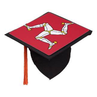 Manx flag graduation cap topper