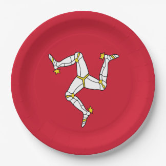 Manx Flag Paper Party Plate