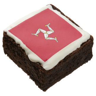 Manx Flag Party Brownies