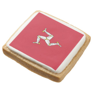 Manx Flag Party Shortbread Cookies