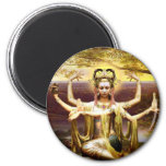 Many Armed Kwan Yin 2 Inch Round Magnet