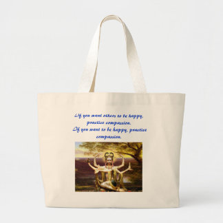 Many Armed Kwan Yin Large Tote Bag