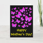"[ Thumbnail: Many Artistic Butterflies + ""Happy Mother's Day!"" Card ]"