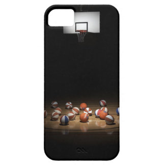 Many basketballs resting on the floor iPhone SE/5/5s case
