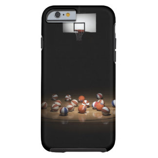 Many basketballs resting on the floor iPhone 6 case