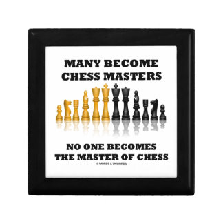 Many Become Chess Masters No One Becomes Master Trinket Box