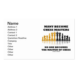 Many Become Chess Masters No One Master Of Chess Business Card Templates
